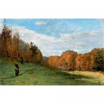 Woodbearers in Fontainebleau forest-Claude Monet