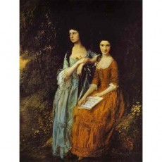 The Linley Sisters (Mrs. Sheridan and Mrs. Tickell)-Thomas Gainsborough