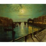 Whitby Harbor by Moonlight-John Atkinson Grimshaw