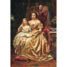 Marie of Hanover and Her Daughter Mary in Marienburg Castle-Wilhelm von Kaulbach